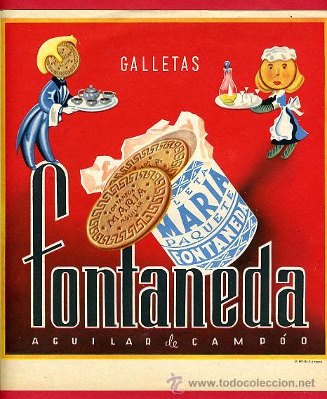 Etiqueta cartel galletas maria fontaneda agu comprar for Cuadros guapos