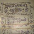 Etiquetas antiguas: LOTE DE 5 ETIQUETAS DE CHOCOLATE FAMILIAR CONFITERIA CAMILO DE BLAS ,DE LEON OVIEDO Y GIJON. Lote 29562449