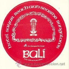 Etiquetas antiguas: ETIQUETA - PEGATINA - HOTEL BALI. Lote 29592220