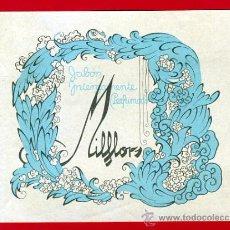 Etiquetas antiguas: ETIQUETA JABON PERFUMADO MILFLORS , ORIGINAL, E1291. Lote 29917764