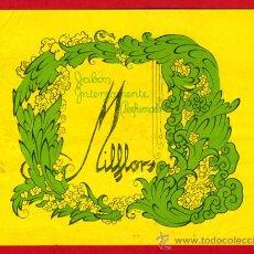 Etiquetas antiguas: ETIQUETA JABON PERFUMADO MILFLORS , ORIGINAL, E1292. Lote 29917771