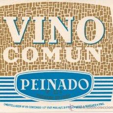 Etiquetas antiguas: ETIQUETA VINO COMUN. Lote 30285959