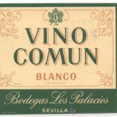 Etiquetas antiguas: ETIQUETA VINO COMUN BLANCO. Lote 30297272