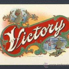 Etiquetas antiguas: ETIQUETA DE TABACO EN RELIEVE VICTORY. Lote 30394335