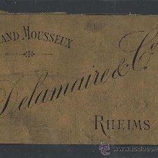 Etiquetas antiguas: ETIQUETA DELAMAIRE - RHEIMS - (E-98). Lote 30696969