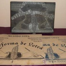 Etiquetas antiguas: LOTE DE 2 CUADERNOS METODO COTS Nº 1 Y 3 + PLANCHA PARA IMPRIMIR LA PORTADA (VER DESCRIPCION). Lote 30815823