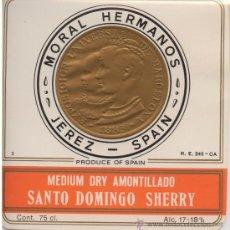Etiquetas antiguas: ETIQUETA MEDIUM DRY AMONTILLADO ET-1278. Lote 31079194