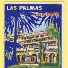 Etiquetas antiguas: ETIQUETA HOTEL- CANARIAS - HOTEL SANTA CATALINA -LAS PALMAS - 113 X 75 -MM. Lote 31103342