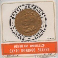 Etiquetas antiguas: ETIQUETA MEDIUM DRY AMONTILLADO ET-1283. Lote 31106509