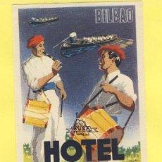 Etiquetas antiguas: ETIQUETA HOTEL- VIZCAYA - HOTEL CALTON - FOURNIER - - BILBAO-TROQUEL- 113 X 75 MM. Lote 31155707