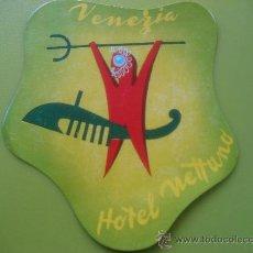 Etiquetas antiguas: ETIQUETA DE HOTEL. HOTEL NEPTUNO. VENEZIA. ITALIA. Lote 31720413