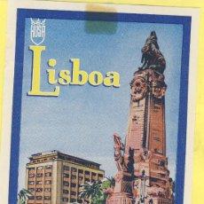 Etiquetas antiguas: ETIQUETA HOTEL- HOTEL FENIX -LISBOA -HUSA- PORTUGAL 75 X 115 MM. Lote 31696147