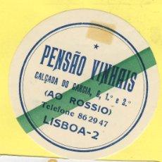 Etiquetas antiguas: ETIQUETA HOTEL- HOTEL PENSAO VINHAIS -LISBOA -TEL. PORTUGAL 75 MM. Lote 31696401