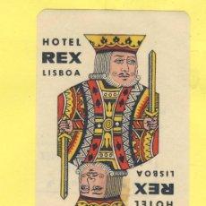 Etiquetas antiguas: ETIQUETA HOTEL- HOTEL REX - -LISBOA- PORTUGAL 60 X 90 MM. Lote 31699465