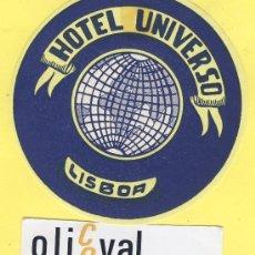 Etiquetas antiguas: ETIQUETA HOTEL- HOTEL UNIVERSO -LISBOA- PORTUGAL 90 MM . Lote 31699872