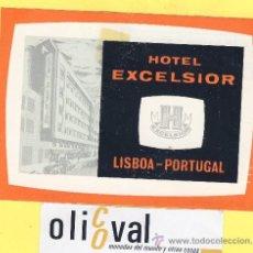 Etiquetas antiguas: ETIQUETA HOTEL- HOTEL EXCELSIOR -LISBOA -PORTUGAL 115 X 80 MM. Lote 31700767