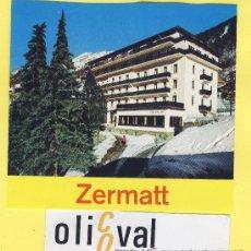 Etiquetas antiguas: LABEL HOTEL - SERIE MONTAÑA HOTEL ZERMAT -ZERMAT SUIZA 95 X 88 MM . Lote 31652931