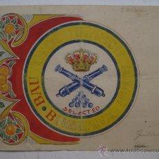 Etiquetas antiguas: ORIGINAL PINTADO A MANO DE ETIQUETAS DE NARANJAS BAUTISTA BLASCO ABAD, BURRIANA, CASTELLON - 1930-40. Lote 31967105