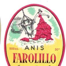 Etiquetas antiguas: ETIQUETA DESTILERIAS J.SELGA TORRAS -MANRESA* ANIS FAROLILLO. Lote 33097178