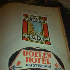 Etiquetas antiguas: LOTE DE 26 ETIQUETAS DE HOTELES DE HOLANDA: VLAARDINGEN, UTRECHT, ROTTERDAM, DELFT, BREDA, AMSTERDAM. Lote 33439252