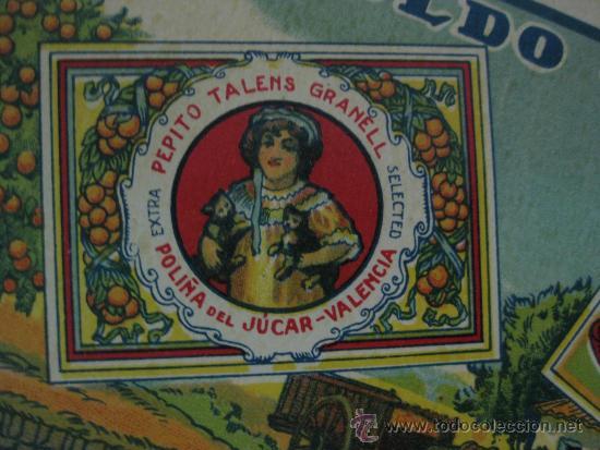 Etiquetas antiguas: 10 ANTIGUAS ETIQUETA DE NARANJAS - LEOPOLDO TALENS - POLIÑA DE JUCAR (VALENCIA) - Foto 3 - 28229069