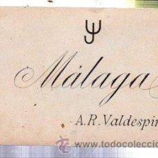 Etiquetas antiguas: ETIQUETA MÁLAGA, A.R. VALDESPINO. Lote 34036328