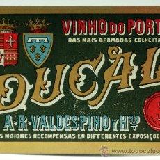 Etiquetas antigas: ETIQUETA DUCAL VINHO DO PORTO AR VALDESPINO Y HNO. Lote 34323698