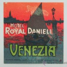 Etiquetas antiguas: ETIQUETA DE HOTEL ROYAL DANIELI, VENEZIA. Lote 36078466