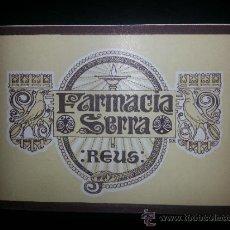 Etiquetas antiguas: ETIQUETA FARMACIA SERRA REUS 10'2X7'5 CMS. Lote 36743285