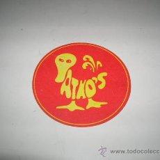 Etiquetas antiguas: POSAVASOS PATHOS GIJÓN AÑO 1978. Lote 37149052