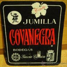 Etiquetas antiguas: ETIQUETA DE VINO COVANEGRA - JUMILLA. Lote 37243758