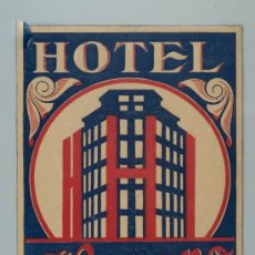 Etiquetas antiguas: ETIQUETA HOTEL HISPANO, ZARAGOZA. Lote 37524920