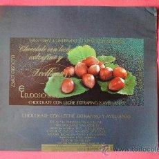 Etiquetas antiguas: ENVOLTORIO ANTIGUO TABLETA DE CHOCOLATE CON LECHE EXTRAFINO Y AVELLANAS. EUDOSIO LOPEZ (LA LLAVE) . Lote 38368922