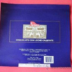 Etiquetas antiguas: ENVOLTORIO TABLETA DE CHOCOLATE CON LECHE CRUJIENTE. EUDOSIO LOPEZ (LA LLAVE) VALLADOLID. ORIGINAL. Lote 38369087