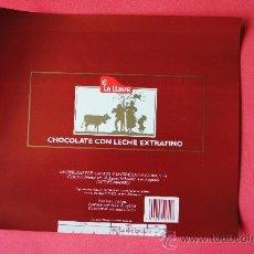 Etiquetas antiguas: ENVOLTORIO TABLETA DE CHOCOLATE CON LECHE EXTRAFINO. EUDOSIO LOPEZ (LA LLAVE) VALLADOLID. ORIGINAL. Lote 38369154