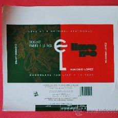 Etiquetas antiguas: ENVOLTORIO TABLETA DE CHOCOLATE FAMILIAR A LA TAZA Nº6. EUDOSIO LOPEZ (LA LLAVE) VALLADOLID.. Lote 38369330