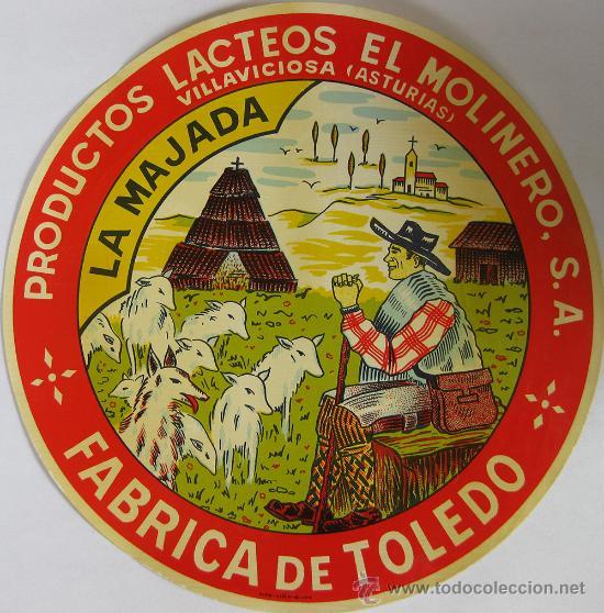 c713bf6a721d Etiqueta de queso La Majada, Productos Lácteos El Molinero, S. A.,  Villaviciosa (Fábrica de Toledo)