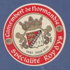 Etiquetas antiguas: ETIQUETA DE QUESO CAMEMBERT GERMOLAT- NORMANDÍA- 11CM DE DIÁMETRO.. Lote 38533393