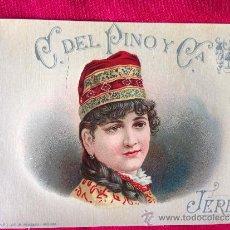 Etiquetas antiguas: ETIQUETA DE VINO ANTIGUA JEREZ DE LA FRONTERA. Lote 38591625