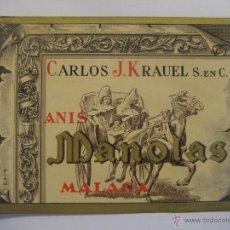 Etiquetas antiguas: ETIQUETA ANÍS CARLOS J. KRAUEL - MÁLAGA. Lote 28474298