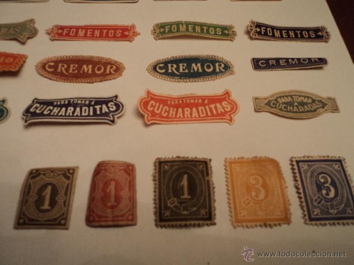 Etiquetas antiguas: ETIQUETAS ANTIGUAS DE FARMACIA - LOTE DE 50 - Foto 4 - 210219796
