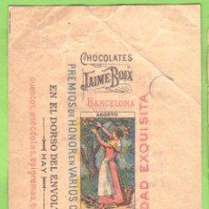 Etiquetas antiguas: ENVOLTORIO CHOCOLATINA CHOCOLATE CHOCOLATES JAIME BOIX. AGOSTO.. Lote 40514072
