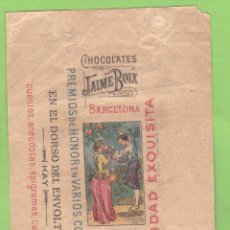 Etiquetas antiguas: ENVOLTORIO CHOCOLATINA CHOCOLATE CHOCOLATES JAIME BOIX.. Lote 40514757