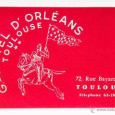 Etiquetas antiguas: ETIQUETA HOTEL D'ORLEANS, DE TOULOUSE. Lote 40770379