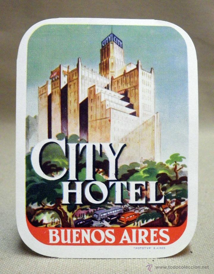 Etiqueta Etiqueta Publicitaria Hotel Madrid Kaufen Alte