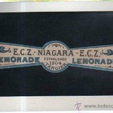 Etiquetas antiguas: ETIQUETA DE LEMONADA. E. C. Z. NIAGARA. TANGER. 1904.. Lote 41685179