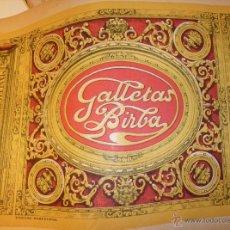 Etiquetas antiguas: 4 ETIQUETAS GRANDES GALLETAS BIRBA- CAMPRODON . Lote 130505567
