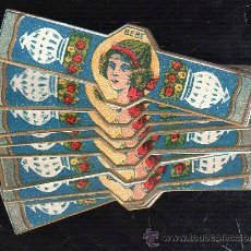 Etiquetas antiguas: LOTE DE 25 ETIQUETAS ENVOLTORIOS DE CARAMELOS BEBE. LEON. 7.5CM.. Lote 42101478