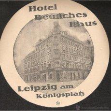 Etiquetas antiguas: ETIQUETA HOTEL ALEMANIA-HOTEL DEUCHES HAUS-LEIPZIG. Lote 42211788