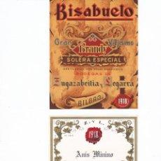 Etiquetas antiguas: BONITO LOTE ETIQUETAS DE LICORES NUEVAS VER DETALLE EL ABUELO. Lote 42223864
